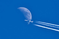 747 crossing the moon