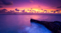 Purple Hues, the Bathing Pools